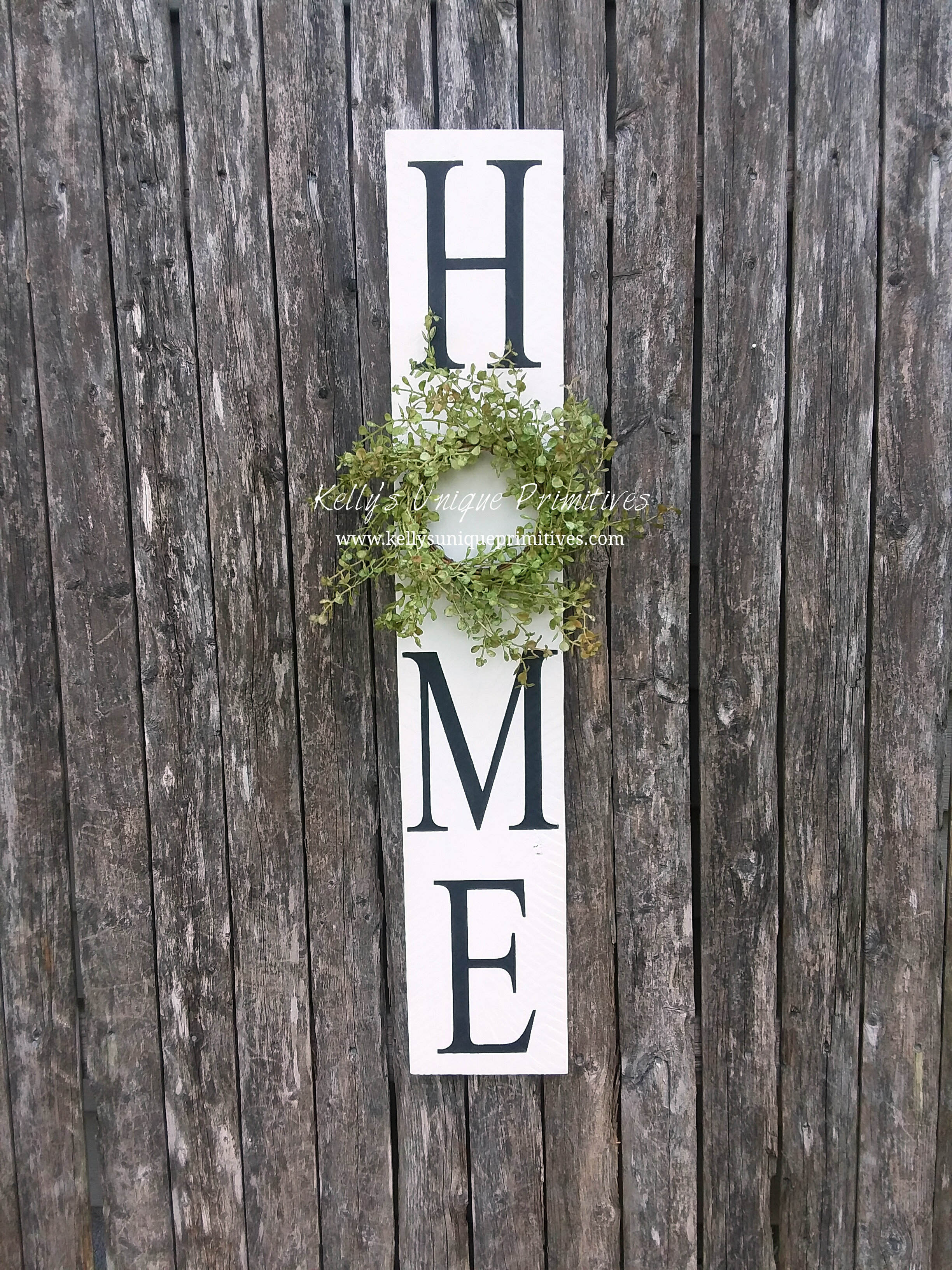 4aecdca74a2ed Vertical Home Sign