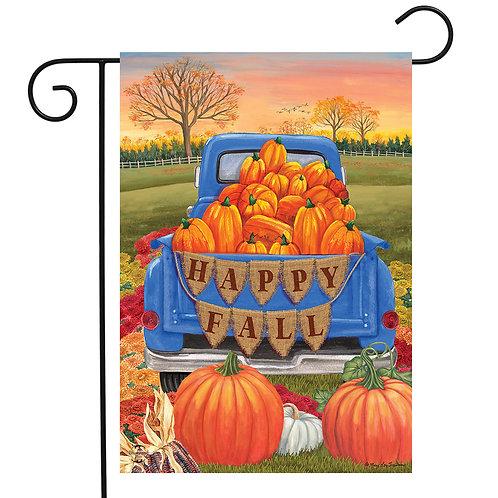 Happy Fall Pickup Garden Flag