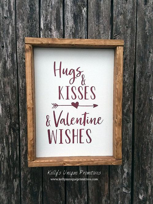 Hugs & Kiss Valentine Wishes