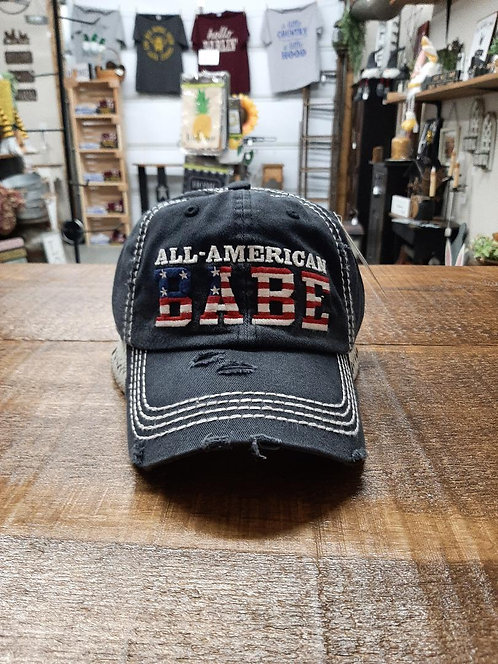 All American Babe Distressed Hat