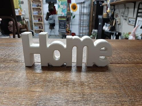 """Wooden """"Home"""" Block"""