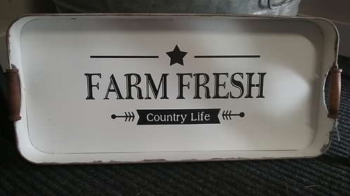 Vintage Farm Fresh Tray