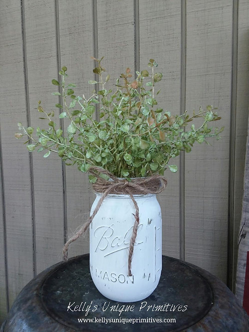 Baby Grass Mason Jar Arrangement