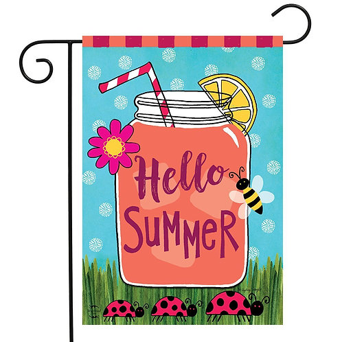 Summer Welcome Garden Flag