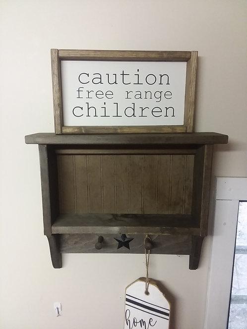 Shelf w/peg hooks