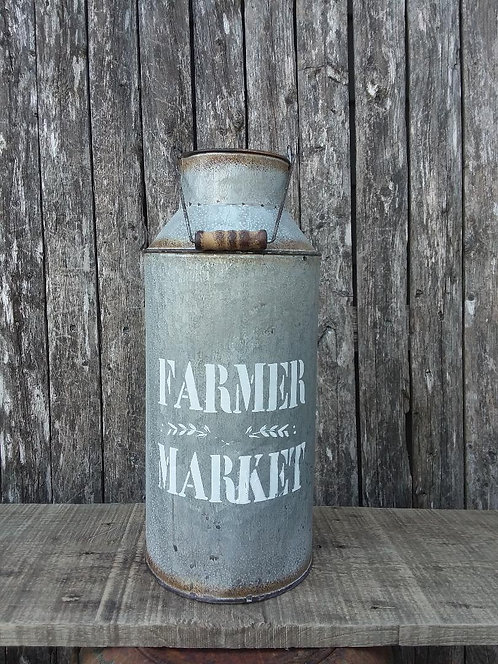 Farmer Market Milk Can