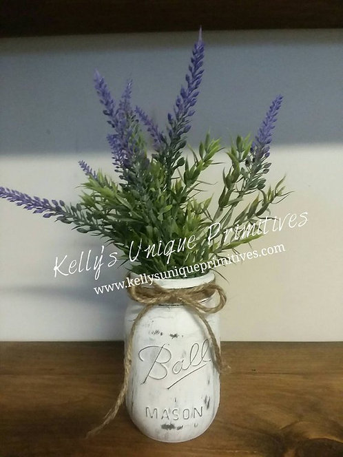Lavender Mason Jar Arrangement