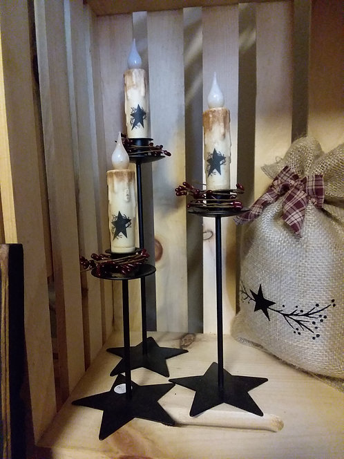 Star Taper Candle Holder Set