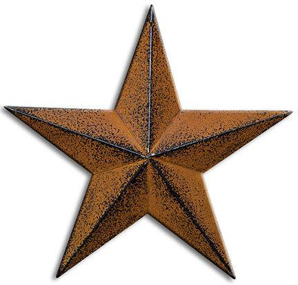 "18"" Rusty Barn Star"