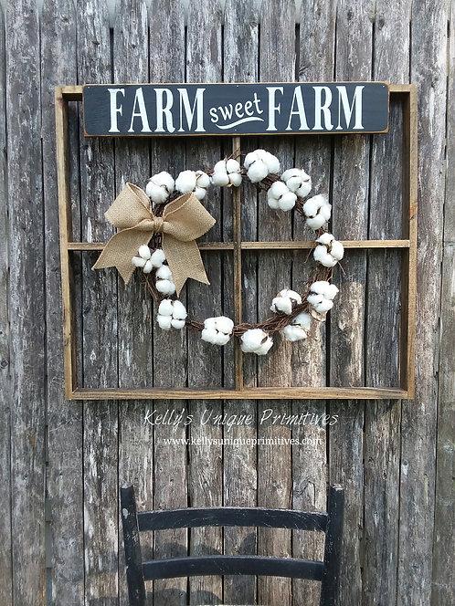 Farm Sweet Farm Window Frame
