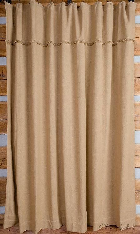 Deluxe Burlap Shower Curtain