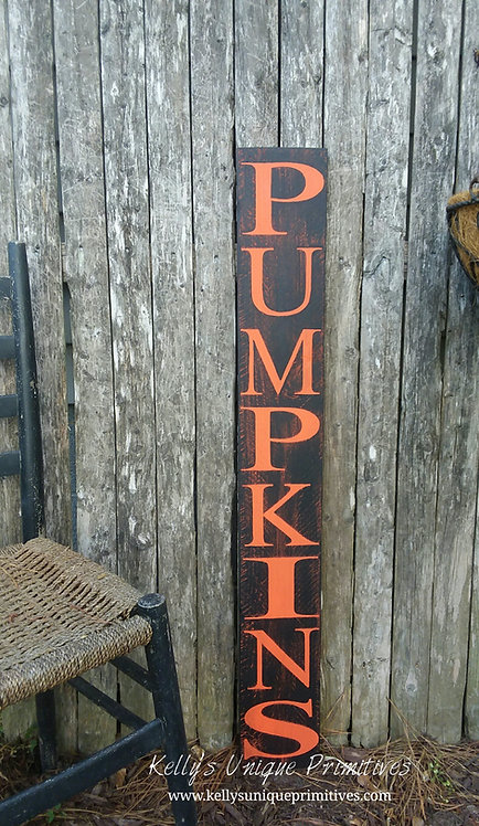 Vertical Pumpkins Sign