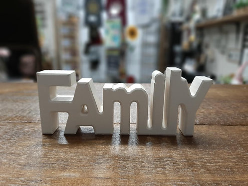 "Wooden ""Family"" Block"