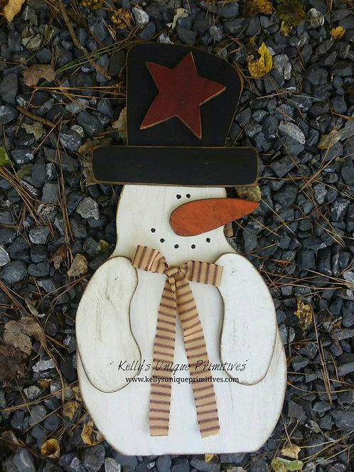 Primitive Snowman w/Top Hat