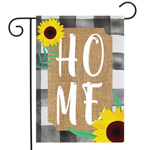 Farm House Home Burlap Garden Flag