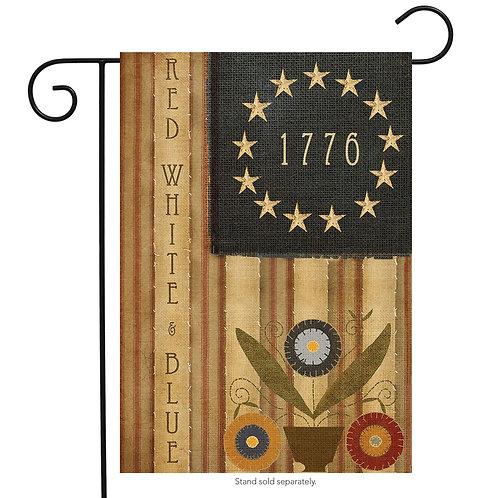 Primitive Americana Garden Flag