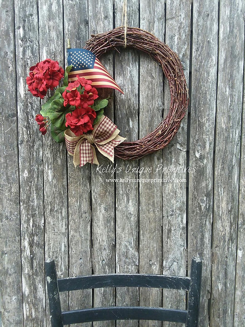 Americana Grapevine Wreath