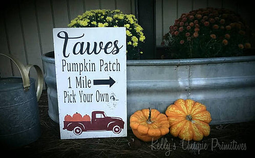 Personalized Family Pumpkin Patch Sign