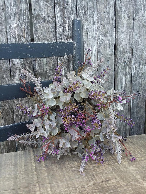 Wheat Eucalyptus Wreath/Candle Ring