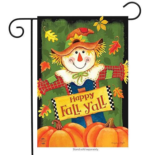 Fall Y'all Scarecrow Garden Flag