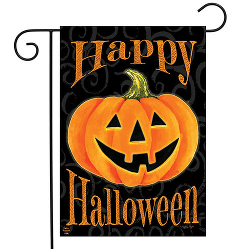 Glowing Jack-O-Lantern Garden Flag