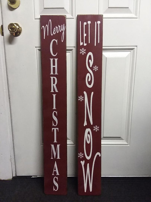 Vertical Christmas Signs