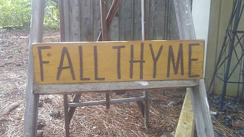 Fall Thyme Sign