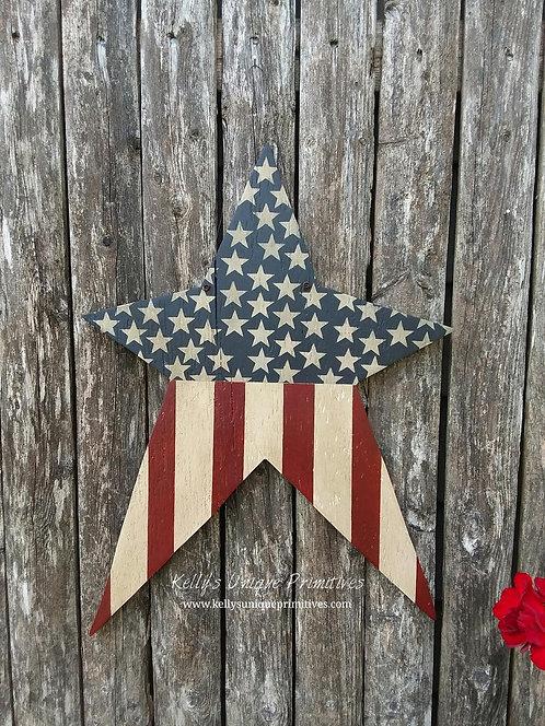 Americana Star Door Hanger