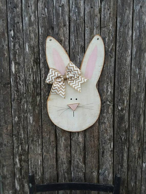 Primitive Bunny Door Hanger/Sign