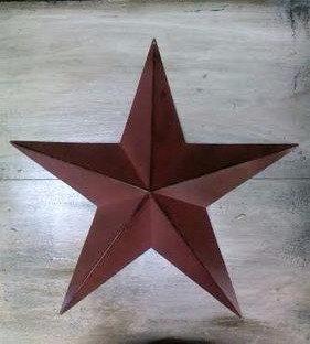 "24"" Burgundy Barn Star"