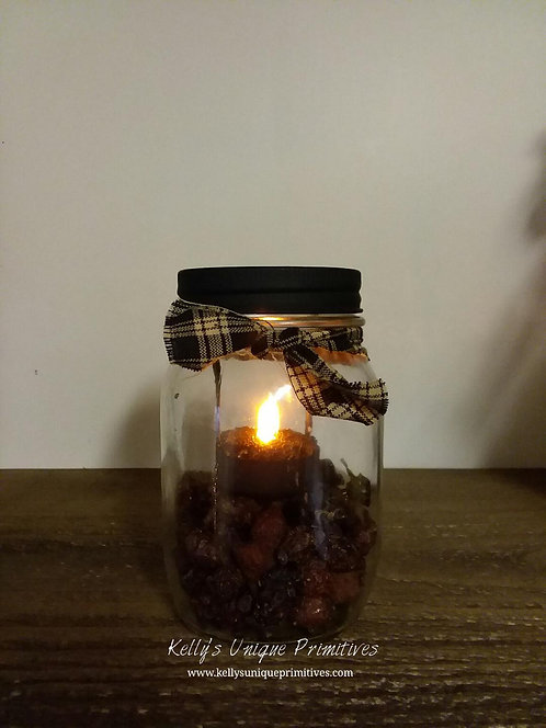 Potpourri Mason Jar- Farmhouse Pumpkin Maple