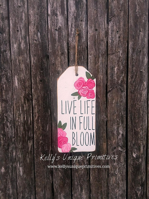 Live Life Tag- Pink