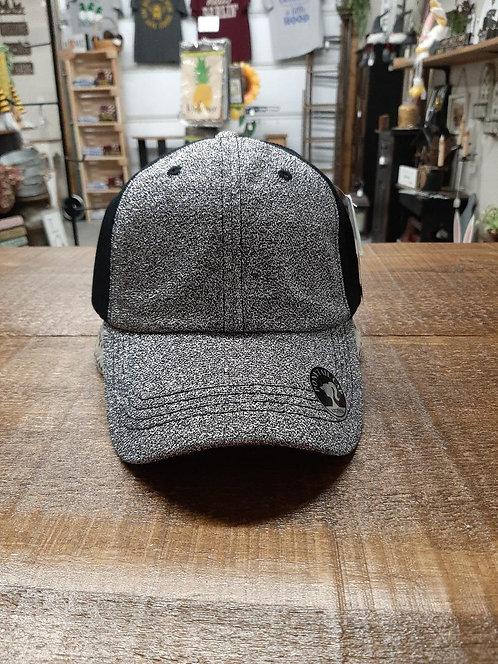 Black & Silver Glitter Ponytail Hat