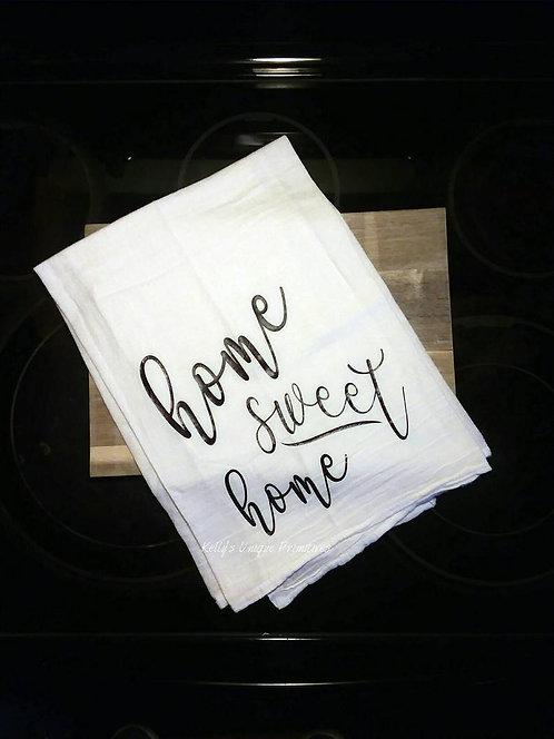 Home Sweet Home Teal Towel