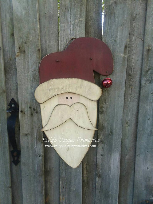 Primitive Santa Door Hanger