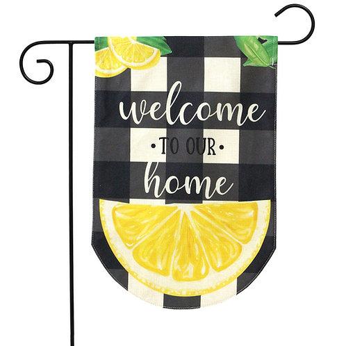 Welcome To Our Home Burlap Garden Flag