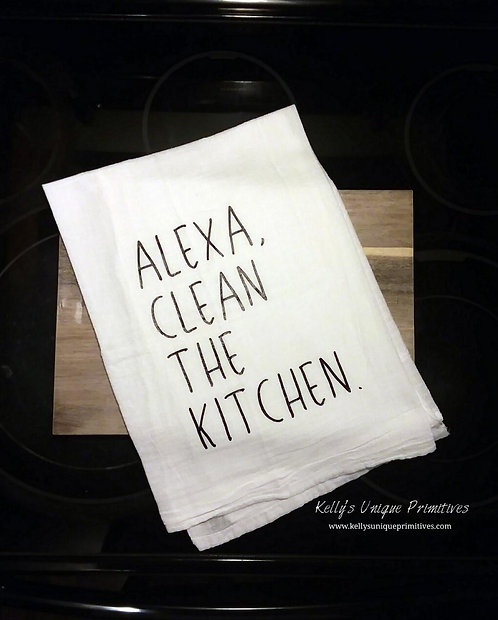 Alexa, Clean the Kitchen Tea Towel