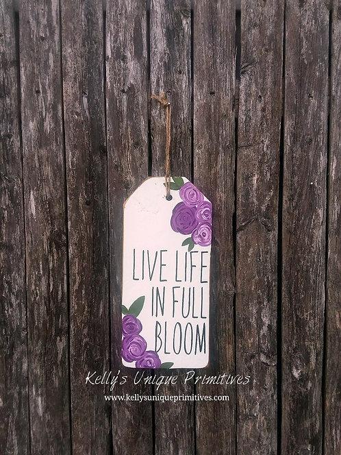 Live Life Tag- Purple