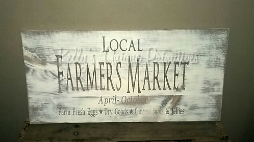 Local Farmers Market Sign