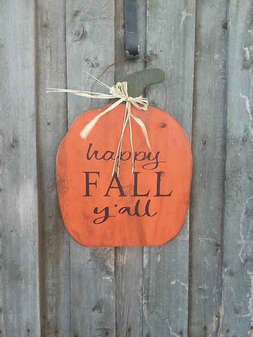 Wooden Pumpkin Hanger