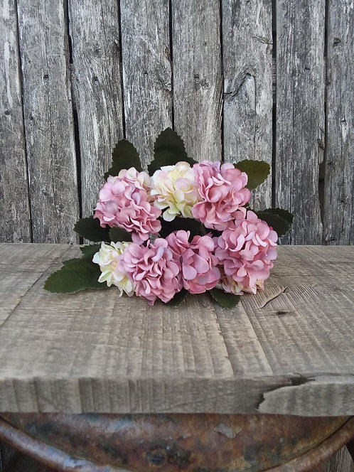 Mauve Petite Hydrangea Pick