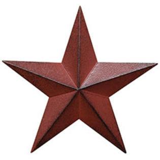 "18"" Burgundy Barn Star"