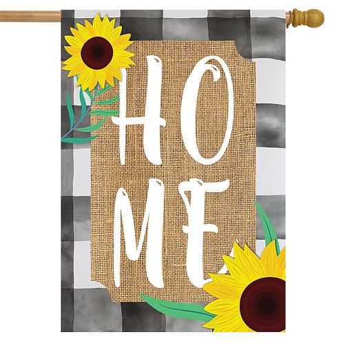 Farmhouse Home Burlap House Flag