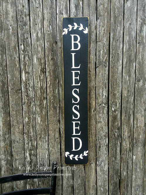 Vertical Blessed Sign