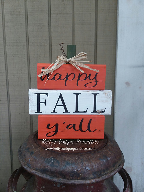 Happy Fall Y'all Blocks