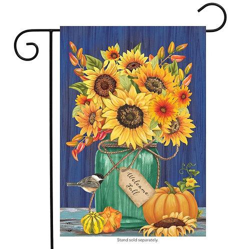 Fall Mason Jar Garden Flag