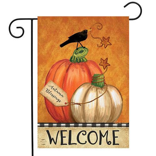 Rustic Pumpkins Garden Flag