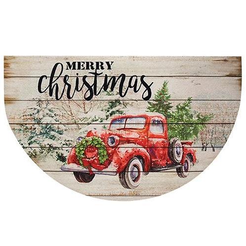 Merry Christmas Truck Door Mat