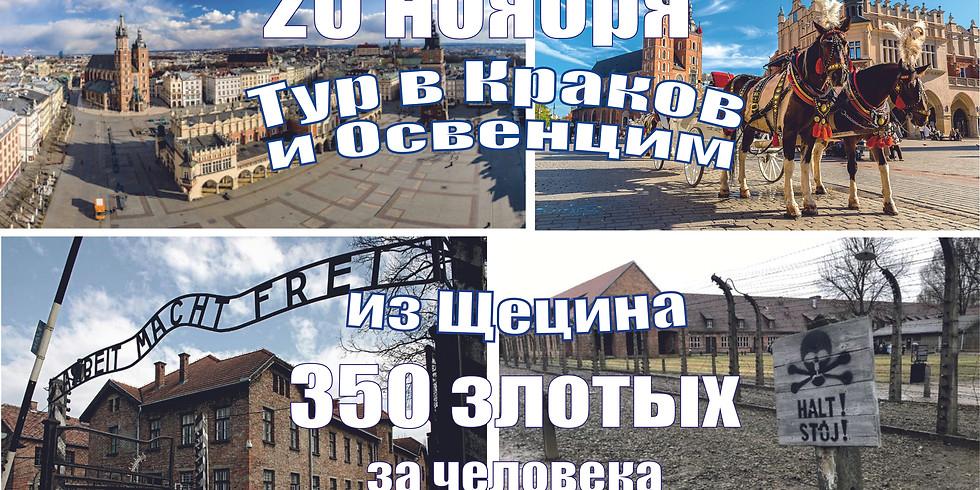 Тур Щецин- Краков- Освенцим (концлагерь) 20 ноября 2021 г.