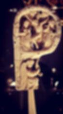 Riccio di Pastorale: Crocifissione, Vergine tra San Giovanni Battista e San Giovanni Evangelista